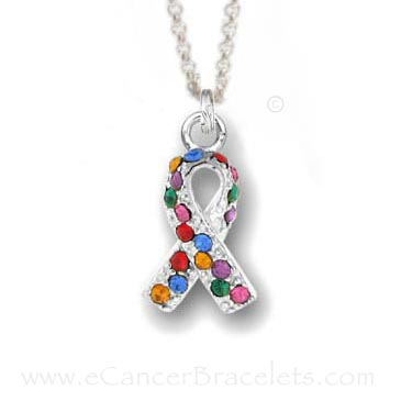 Autism Awareness Necklace - Autism Ribbon Charm Necklaces